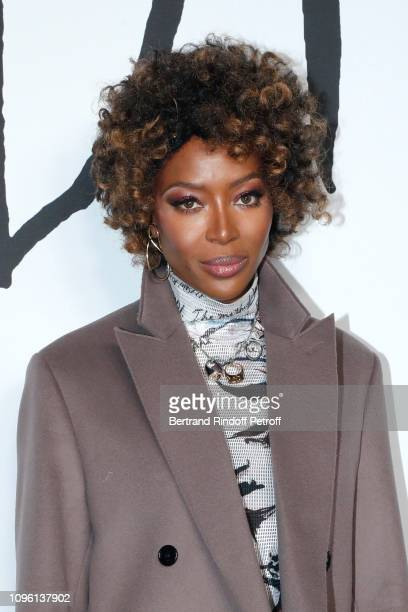Model Naomi Campbell attends the Dior Homme Menswear Fall/Winter 20192020 show as part of Paris Fashion Week on January 18 2019 in Paris France