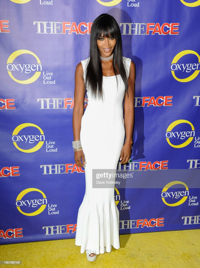 Model Naomi Campbell attends 'The Face' Series Premiere at Marquee New York on February 5, 2013 in New York City.