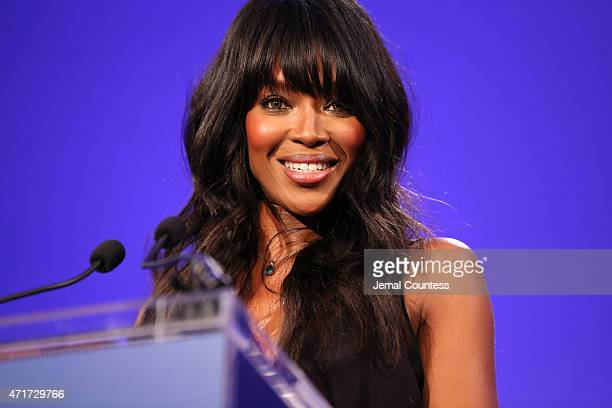 Model Naomi Campbell attends the International Center of Photography 31st annual Infinity Awards at Pier Sixty at Chelsea Piers on April 30 2015 in...