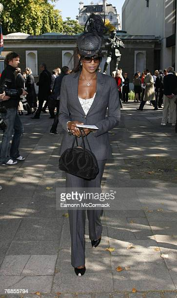 Model Naomi Campbell attends the Isabella Blow Memorial Service at Guards Chapel on September 18, 2007 in London, England.