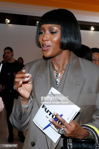 Model Naomi Campbell attends the LVMH Prize 2019 Edition at Louis Vuitton Avenue Montaigne Store on March 01 2019 in Paris France