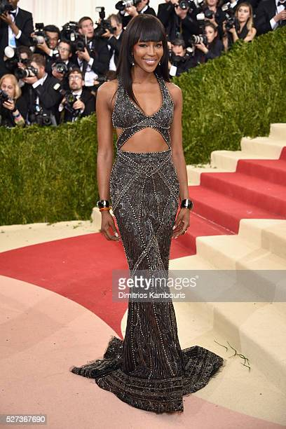 Model Naomi Campbell attends the 'Manus x Machina Fashion In An Age Of Technology' Costume Institute Gala at Metropolitan Museum of Art on May 2 2016...