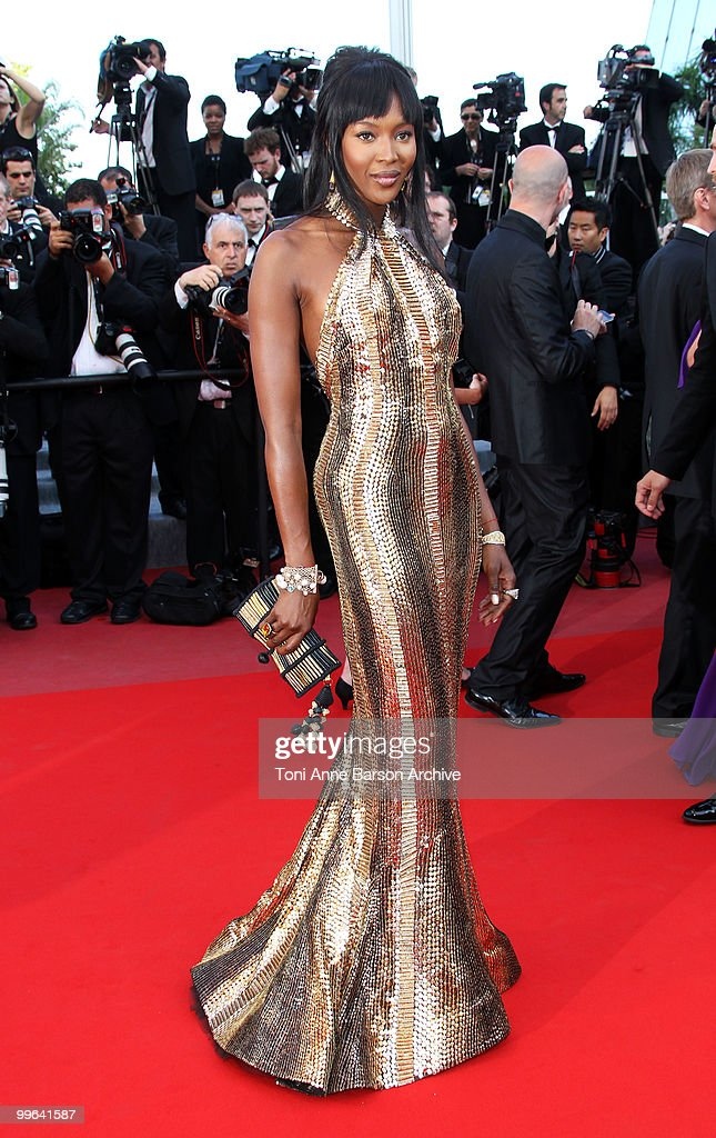 Model Naomi Campbell attends the premiere of 'Biutiful' held at the Palais des Festivals during the 63rd Annual International Cannes Film Festival on May 17, 2010 in Cannes, France.