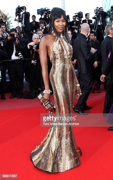 Model Naomi Campbell attends the premiere of 'Biutiful' held at the Palais des Festivals during the 63rd Annual International Cannes Film Festival on...