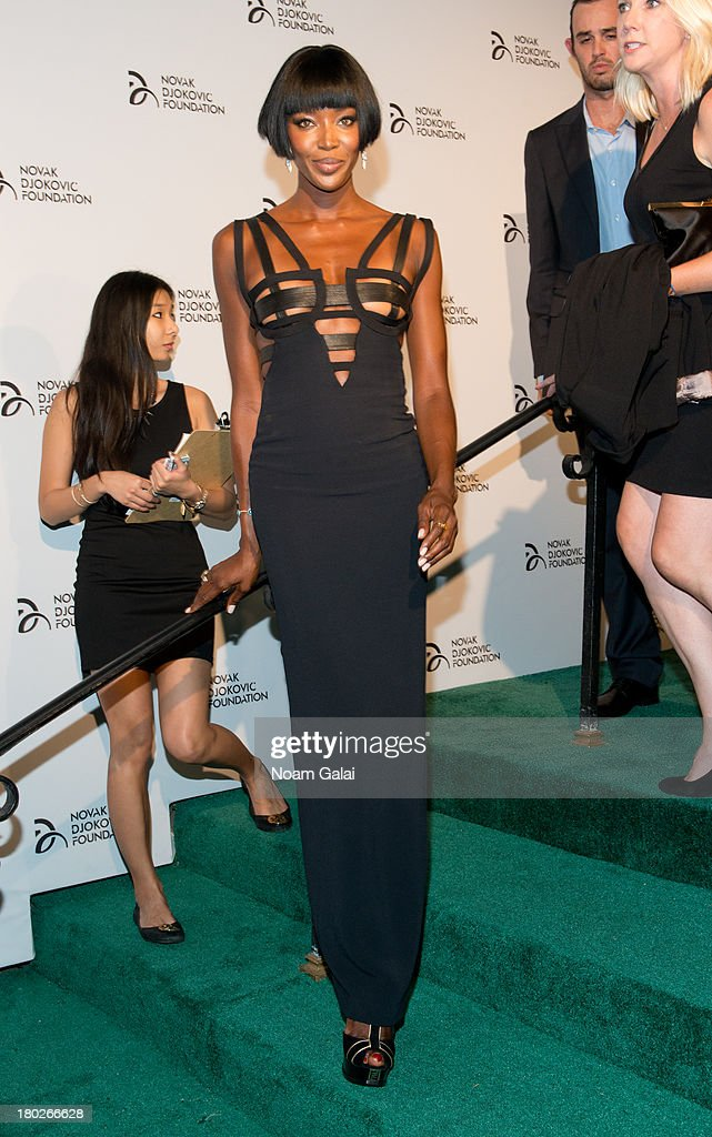 Model Naomi Campbell attends the The 2013 Novak Djokovic Benefit Dinner at Capitale on September 10, 2013 in New York City.