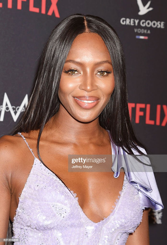 Model Naomi Campbell attends The Weinstein Company and Netflix Golden Globe Party, presented with FIJI Water, Grey Goose Vodka, Lindt Chocolate, and Moroccan Oil at The Beverly Hilton Hotel on January 8, 2017 in Los Angeles, California
