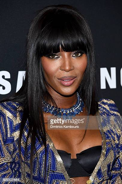 Model Naomi Campbell attends the 'Zoolander 2' World Premiere at Alice Tully Hall on February 9 2016 in New York City