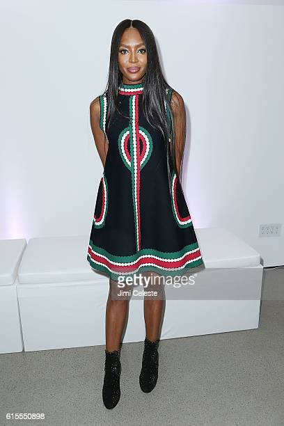 Model Naomi Campbell attends VIP Evening of Conversation for Women's Brain Health Initiative Moderated by Tina Brown at Spring Studios on October 18...