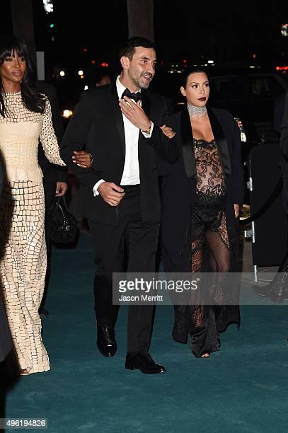 Model Naomi Campbell, Designer Riccardo Tisci and TV personality Kim Kardashian attend LACMA 2015 Art+Film Gala Honoring James Turrell and Alejandro...