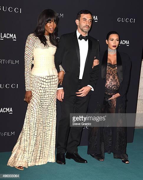 Model Naomi Campbell, Designer Riccardo Tisci and TV personality Kim Kardashian arrive at the LACMA 2015 Art+Film Gala Honoring James Turrell And...