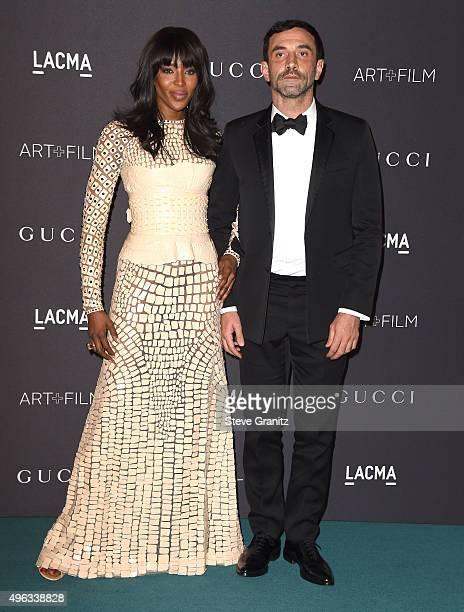 Model Naomi Campbell, designer Riccardo Tishi arrive at the LACMA 2015 Art+Film Gala Honoring James Turrell And Alejandro G Inarritu, Presented By...