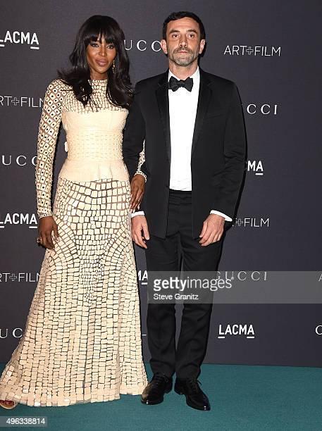 Model Naomi Campbell, designer Riccardo Tishi arrives at the LACMA 2015 Art+Film Gala Honoring James Turrell And Alejandro G Inarritu, Presented By...