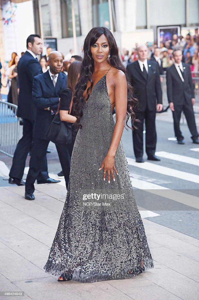 Model Naomi Campbell is seen arriving at The 2014 CFDA Fashion Awards on June 2, 2014 in New York City.