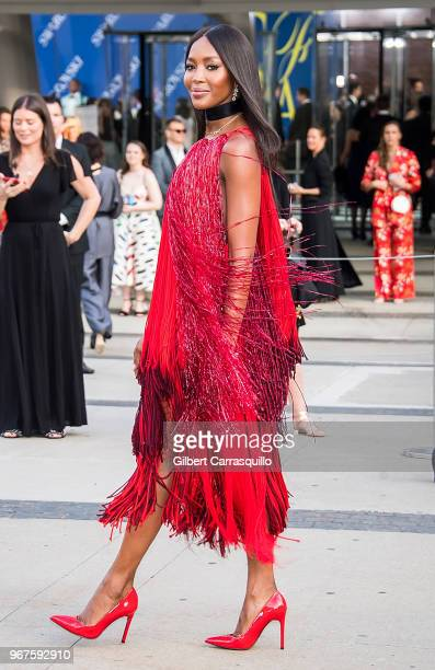 Model Naomi Campbell is seen arriving to the 2018 CFDA Fashion Awards at Brooklyn Museum on June 4, 2018 in New York City.