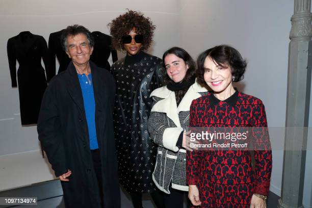 Model Naomi Campbell Jack Lang his wife Monique Lang and their Granddaughter Anna attend the Tribute To Azzedine Alaia as part of Paris Fashion Week...