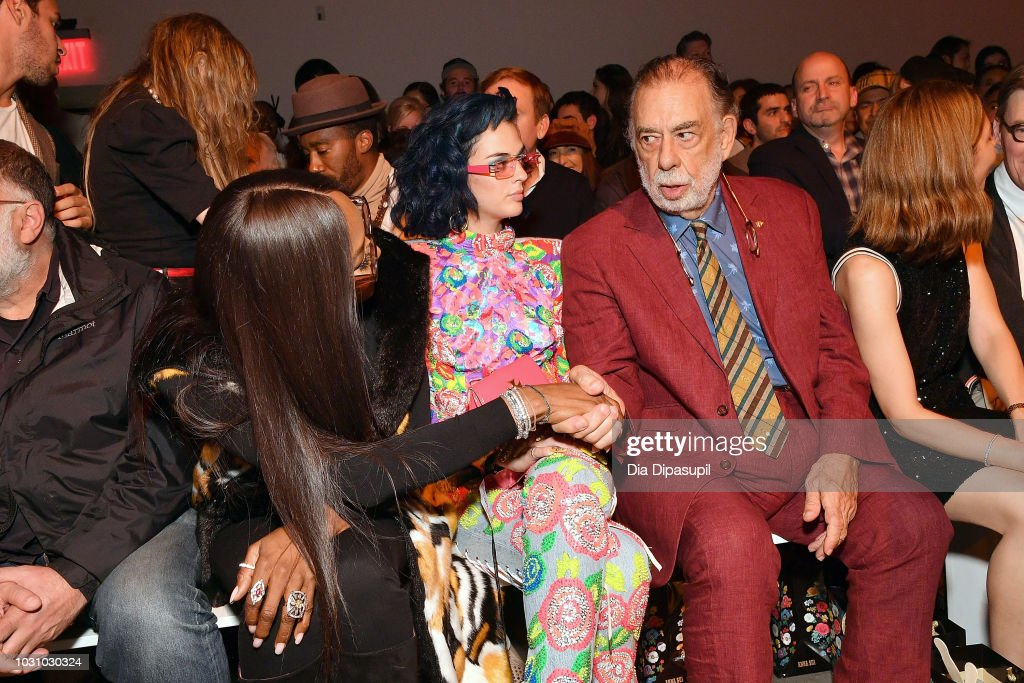 Model Naomi Campbell, Sita Abellan, director Francis Ford Coppola and director Sofia Coppola attend the Anna Sui front row during New York Fashion Week: The Shows at Gallery I at Spring Studios on September 10, 2018 in New York City.