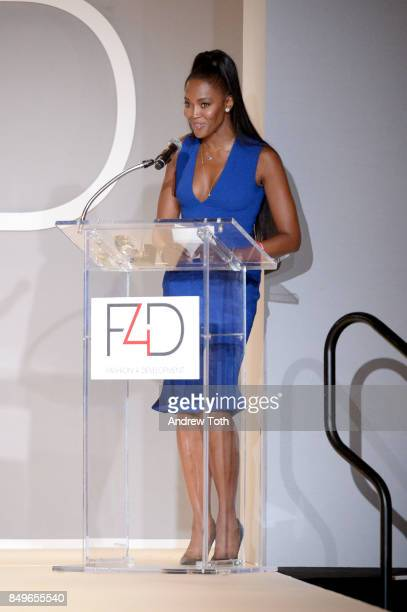 Model Naomi Campbell speaks onstage during Fashion 4 Development's 7th Annual First Ladies Luncheon at The Pierre Hotel on September 19 2017 in New...