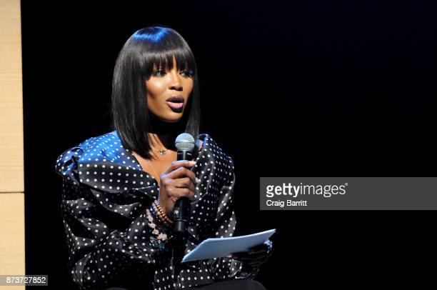 Model Naomi Campbell speaks onstage during Glamour Celebrates 2017 Women Of The Year Live Summit at Brooklyn Museum on November 13 2017 in New York...