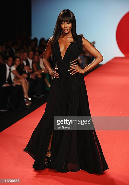 Model Naomi Campbell walks the runway at Fashion For Relief at Forville market during the 64th Annual Cannes Film Festival on May 16, 2011 in Cannes,...