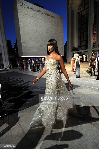 Model Naomi Campbell walks the runway during Fashion's Night Out The Show at Lincoln Center on September 7 2010 in New York City