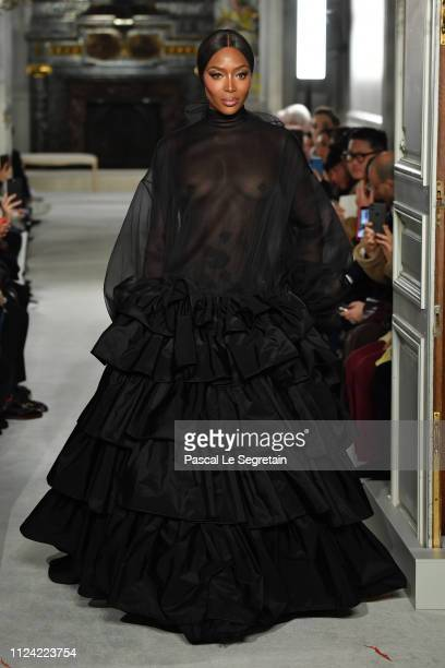Model Naomi Campbell walks the runway during the Valentino Spring Summer 2019 show as part of Paris Fashion Week on January 23 2019 in Paris France