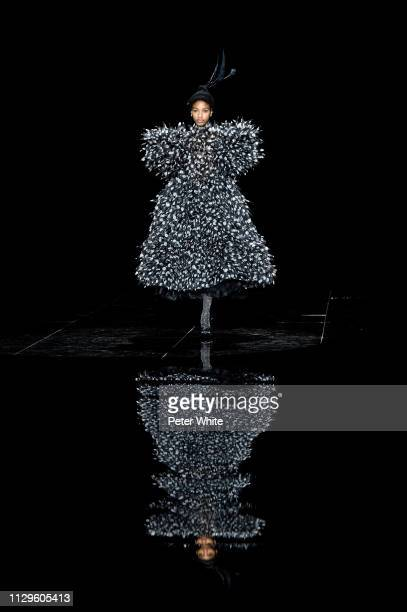 Model Naomi Chin Wing walks the runway at the Marc Jacobs fashion show during New York Fashion Week on February 13 2019 in New York City