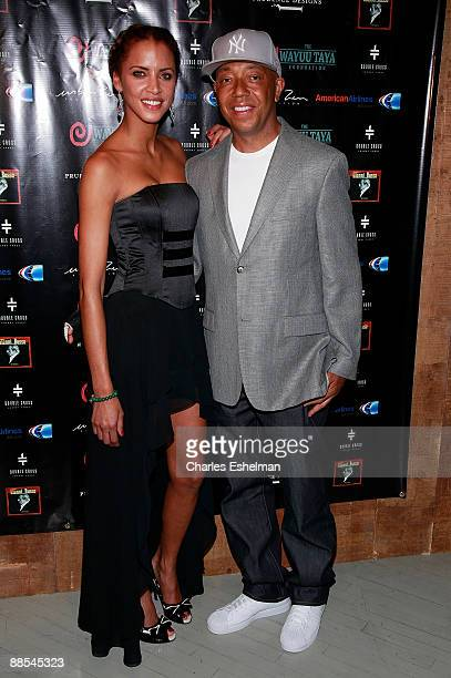 Model Naomi Lenore and entrepreneur Russell Simmons attends the 6th Annual Wayuu Taya Foundation Gala at Stephen Weiss Studio June 17 2009 in New...