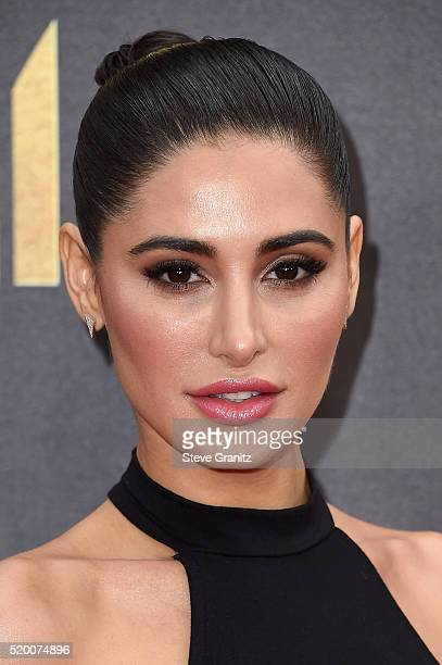 Model Nargis Fakhri attends the 2016 MTV Movie Awards at Warner Bros. Studios on April 9, 2016 in Burbank, California. MTV Movie Awards airs April...