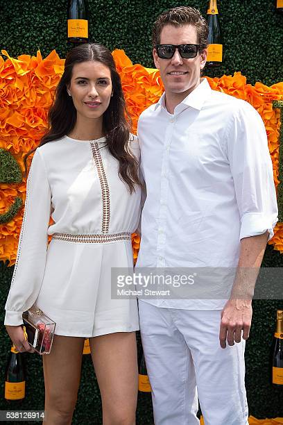 Model Natalia Beber and Cameron Winklevoss attend the 2016 Veuve Clicquot Polo Classic at Liberty State Park on June 4 2016 in Jersey City New Jersey