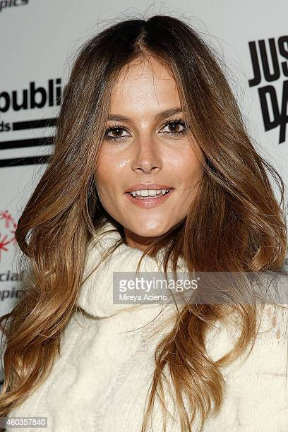 Model Natalia Borges attend 2014 Republic Records Holiday Party on December 11 2014 in New York City