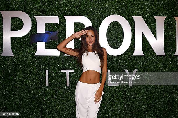 Model Natalia Borges attends the debut of Margherita Missoni and Peroni Nastro Azzurro's Fall Fashion Collaboration during New York Fashion Week on...