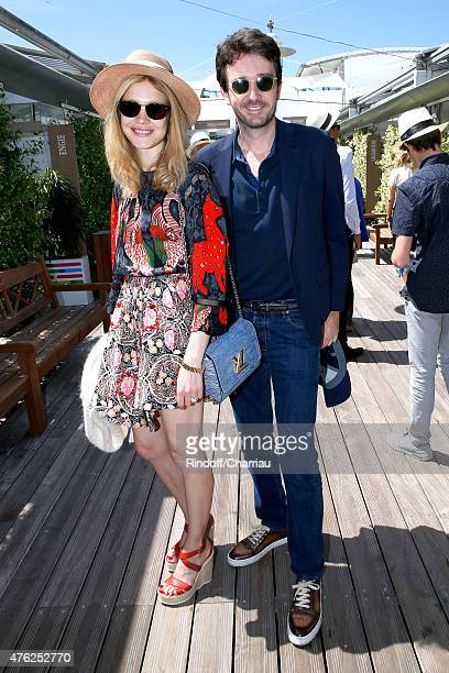 Model Natalia Vodianova and General manager of Berluti Antoine Arnault attend the Men Final of 2015 Roland Garros French Tennis Open Day Fithteen on...