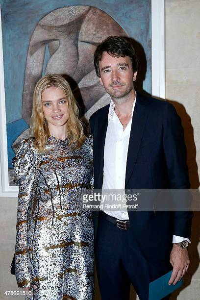 Model Natalia Vodianova and General manager of Berluti Antoine Arnault attend the Berluti Menswear Spring/Summer 2016 show as part of Paris Fashion...