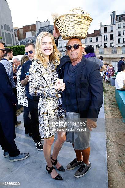 Model Natalia Vodianova and Photographer JeanBaptiste Mondino attend the Picnic after the Berluti Menswear Spring/Summer 2016 show as part of Paris...