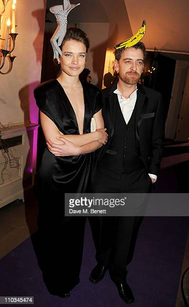 Model Natalia Vodianova and Scott Douglas attend The Surrealist Ball in aid of NSPCC hosted by Dasha Zhukova editor of Harper's Bazaar Lucy Yeomans...