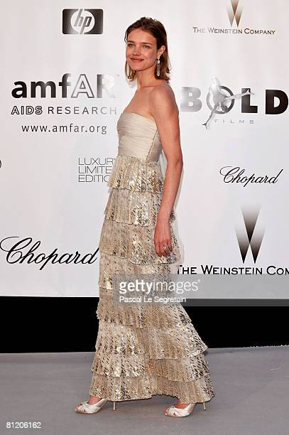 Model Natalia Vodianova arrives at amfAR's Cinema Against AIDS 2008 benefit held at Le Moulin de Mougins during the 61st International Cannes Film...