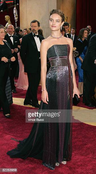 Model Natalia Vodianova arrives the 77th Annual Academy Awards at the Kodak Theater on February 27 2005 in Hollywood California