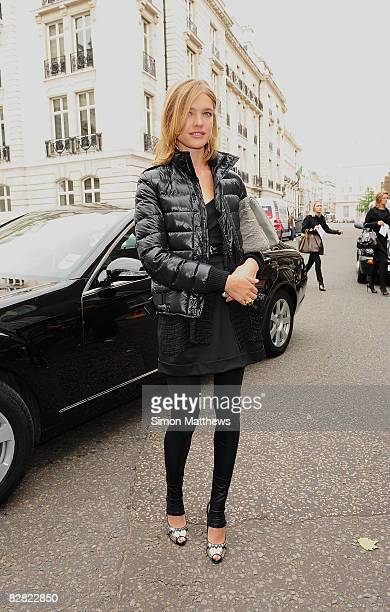 Model Natalia Vodianova arrives to attend the Julien MacDonald fashion show during London Fashion Week Spring/Summer 2009 on September 15 2008 in...