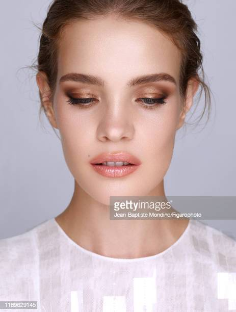 Model Natalia Vodianova is photographed for Madame Figaro on November 5 2018 in Paris France Dress Makeup by Guerlain PUBLISHED IMAGE CREDIT MUST...
