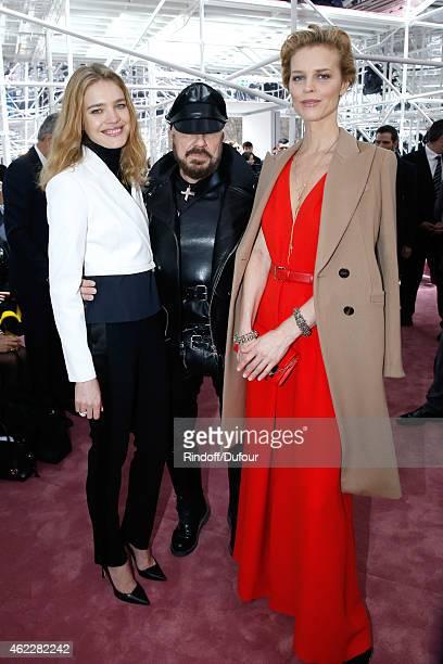 Model Natalia Vodianova Peter Marino and model Eva Herzigova attend the Christian Dior show as part of Paris Fashion Week Haute Couture Spring/Summer...