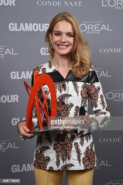 Model Natalia Vodianova poses at the Glamour 2014 Women Of The Year Awards at Carnegie Hall on November 10 2014 in New York City