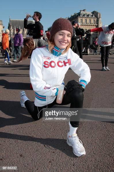 Runners compete during Paris Semi-Marathon on March 7