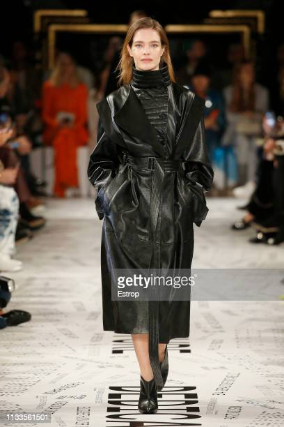 Model Natalia Vodianova walks the runway at the Stella McCartney show at Paris Fashion Week Autumn/Winter 2019/20 on March 4 2019 in Paris France