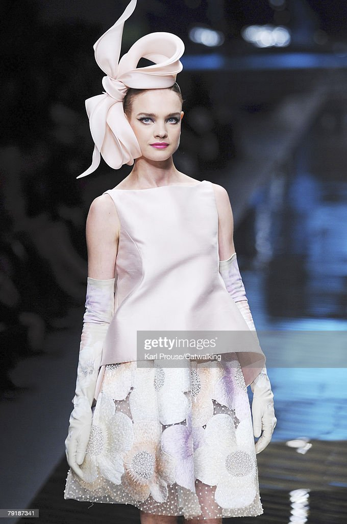 Model Natalia Vodianova walks the runway during the Valentino Fashion Show part of Paris Spring/Summer 2008 Haute Couture Fashion Week on the 23rd of January 2008 in Paris,France