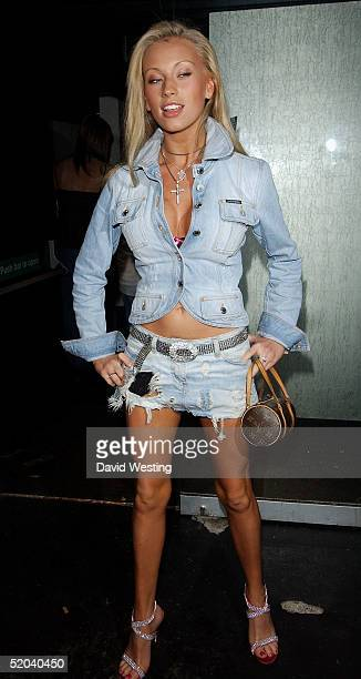 Model Natalie Denning attends the 1st Birthday party for Nuts Magazine on January 20 2005 at Trap Nightclub in Wardour Street London