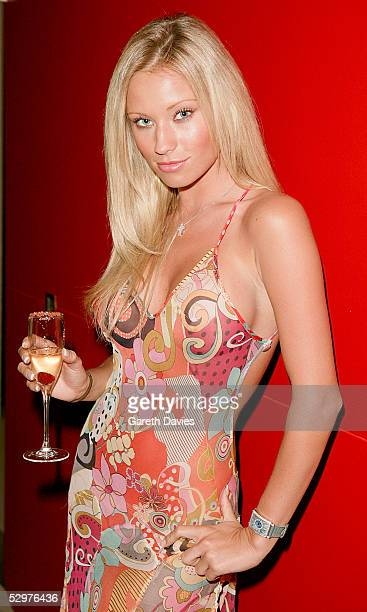 Model Natalie Denning attends the after party for the UK premiere of House of Wax at Penthouse Leicester Square on May 24 2005 in London England