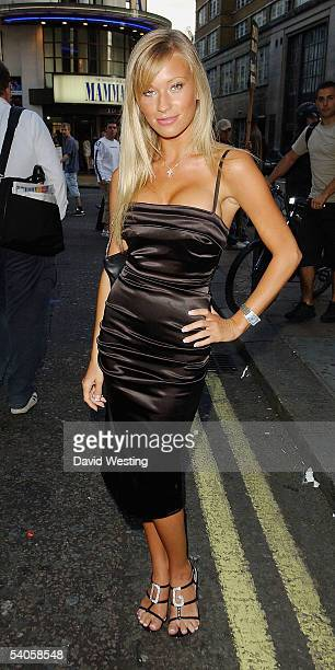 Model Natalie Denning attends The Business VIP Screening at the Rex Cinema and Bar on September 1 2005 in London England The VIP screening of the...