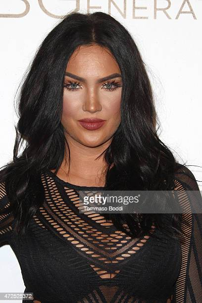 Model Natalie Halcro attends the NYLON Magazine And BCBGeneration Annual May Young Hollywood Issue Party held at HYDE Sunset Kitchen Cocktails on May...