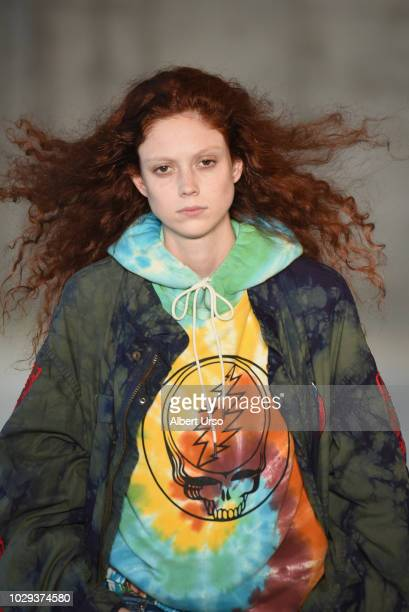 Model Natalie Westling walks the runway at the R13 show during New York Fashion Week on September 8 2018 in New York City