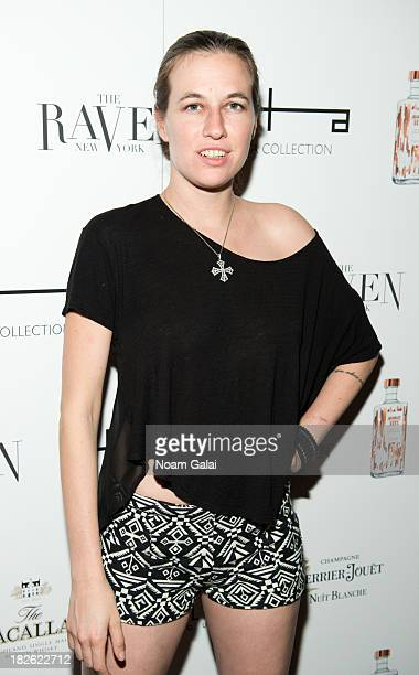 Model Natalie White attends the opening night of The Raven on October 1 2013 in New York City